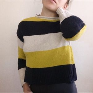 90s aesthetic Tucker + Tate Striped knit sweater